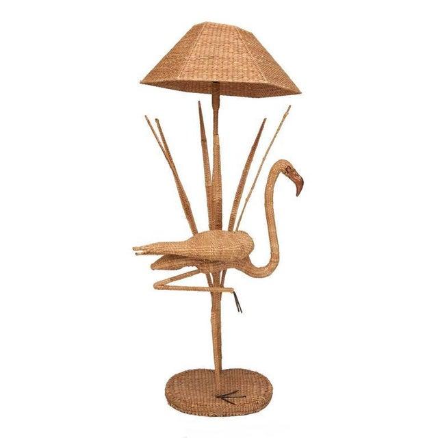 Mario Lopez Torres Flamingo Wicker Floor Lamp - Image 3 of 3