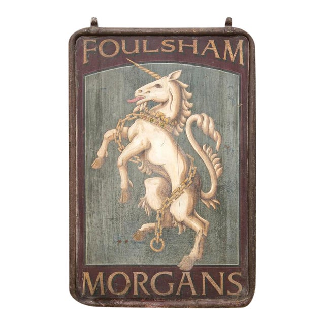 "English Pub Sign ""Foulsham Morgans"" - Image 1 of 5"