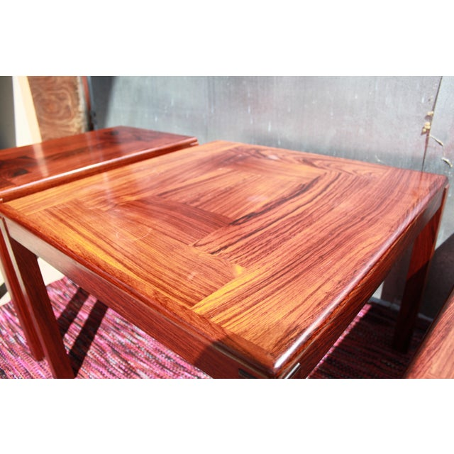 1960s Danish Rosewood Coffee & End Tables - Set of 3 - Image 8 of 10