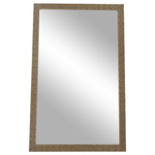 Carved Wood Silver Mirror