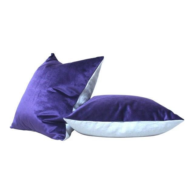 Purple Velvet Throw Pillow Chairish