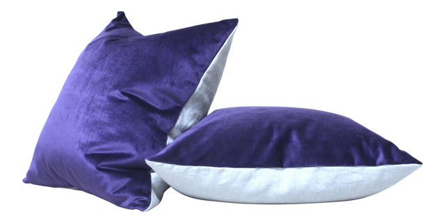 Purple Velvet Throw Pillow Chairish