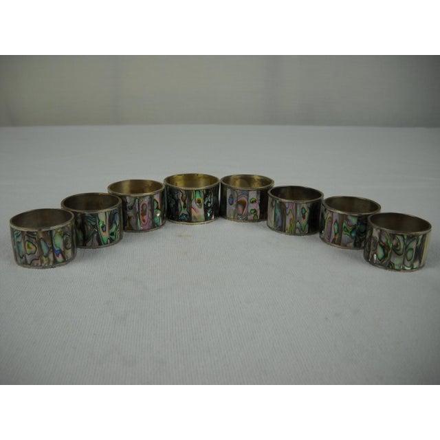 Abalone Shell Napkin Rings - Set of 8 - Image 6 of 8