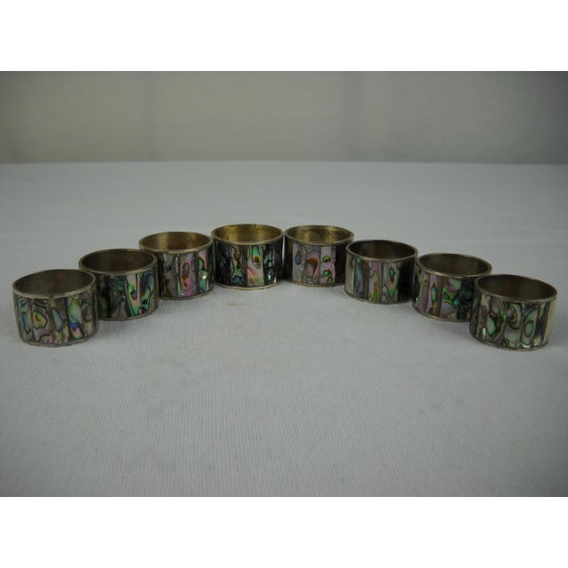 Image of Abalone Shell Napkin Rings - Set of 8