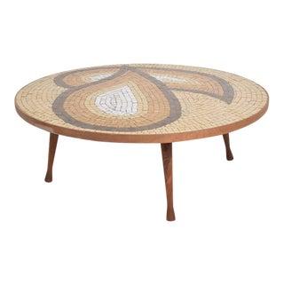 Mid-Century Modern Tile & Walnut Coffee Table