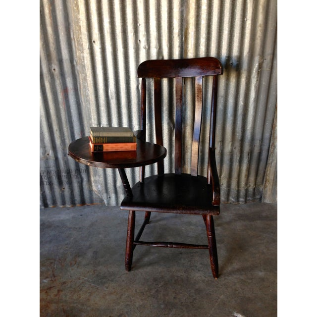 Early New England Windsor Writing Chair - Image 9 of 9