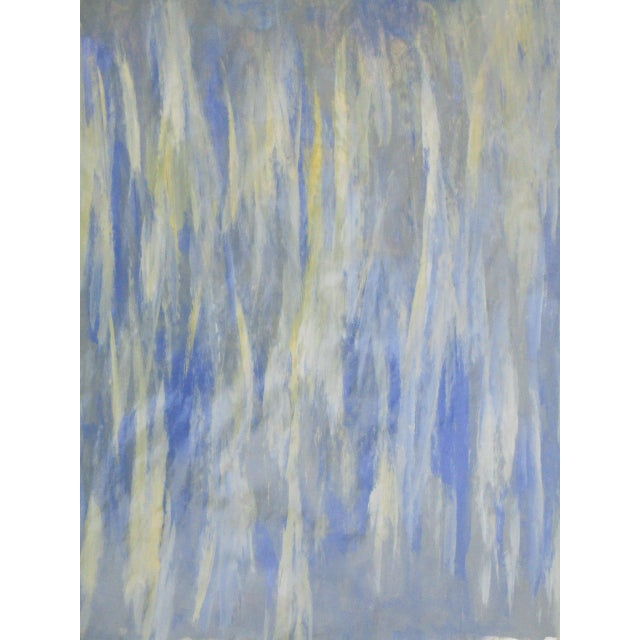 Alaina Blue Green Streak Painting - Image 6 of 10
