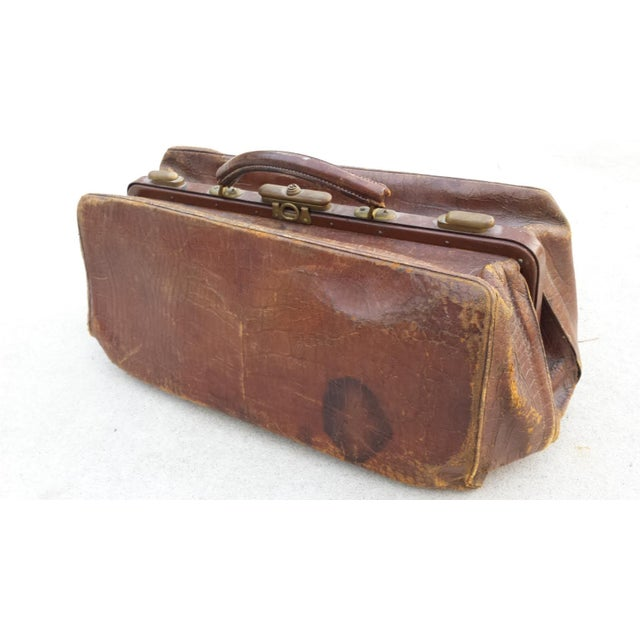 Brown Leather Doctor's Bag - Image 5 of 6