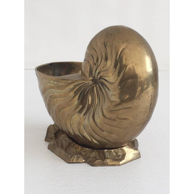 Brass Hollywood Regeancy Nautilus Planter / Ice Bucket - Image 5 of 5