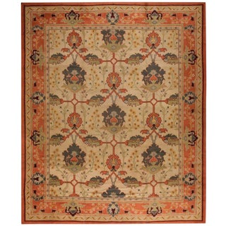 Antique Oversize Arts and Crafts Donegal Carpet