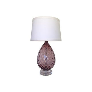 1960s Blown Glass Lamp on Lucite