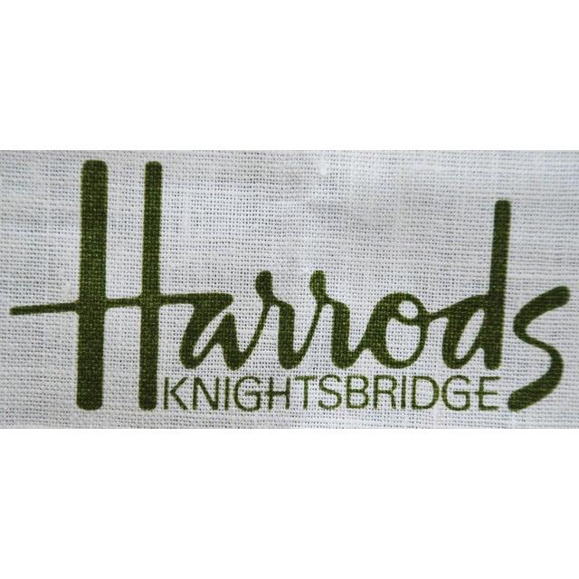 Vintage Harrod's London Underground Knightsbridge Tea Towel - Image 3 of 8