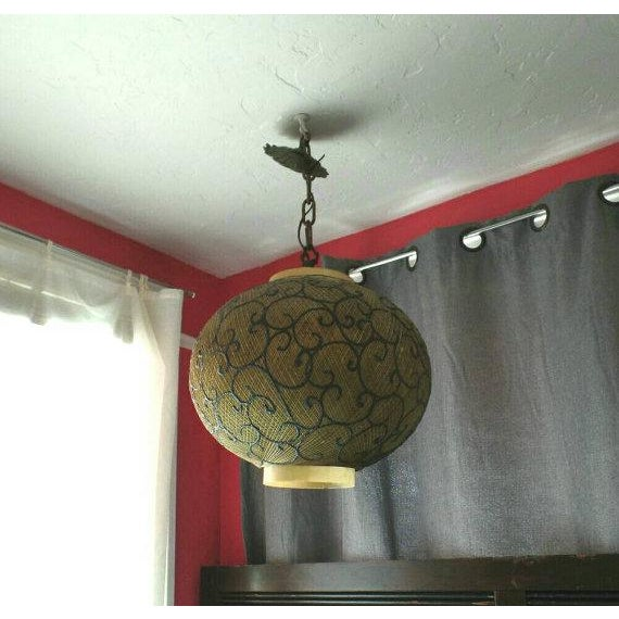 Vintage Victorian Scrolled Swagain Light - Image 3 of 5