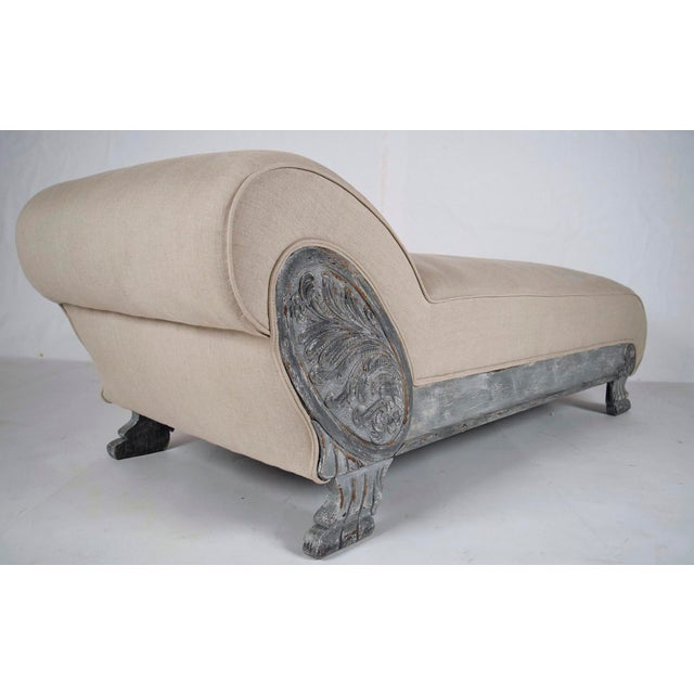 Vintage Painted Empire Chaise Longue - Image 2 of 7