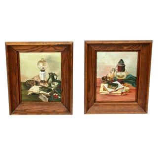 Vintage Still Life Paintings - A Pair