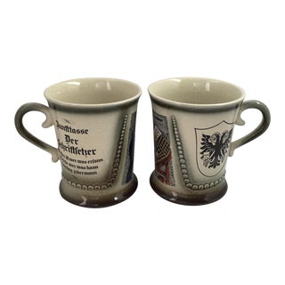 Vintage German Coffee Mugs - A Pair