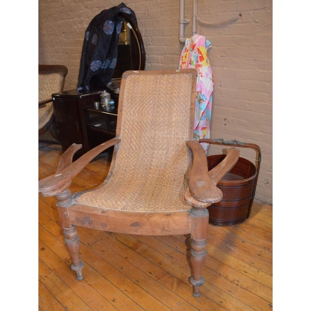 Woven Rattan Plantation Chair - Image 2 of 4 - Woven Rattan Plantation Chair Chairish