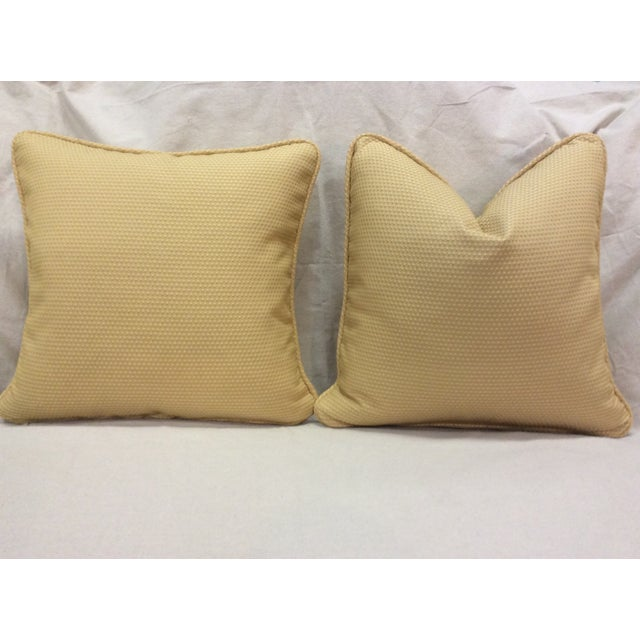 Yellow Floral Design Pillows - Pair - Image 5 of 9