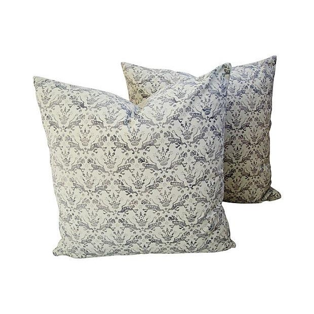 Custom Brunschwig & Fils Imperial Pillows - A Pair - Image 1 of 7