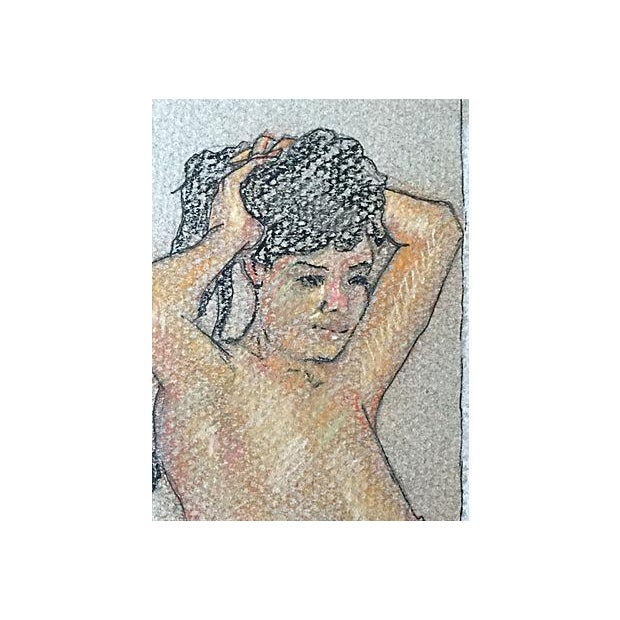 Pastel Drawing of Seated Nude by Window - Image 5 of 5