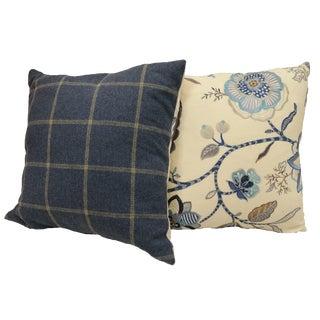 Custom Cowtan & Tout Throw Pillows - A Pair