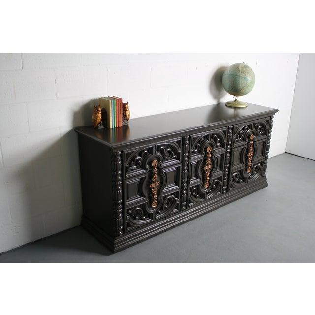 Hollywood Regency Gray & Bronze Dresser - Image 9 of 9