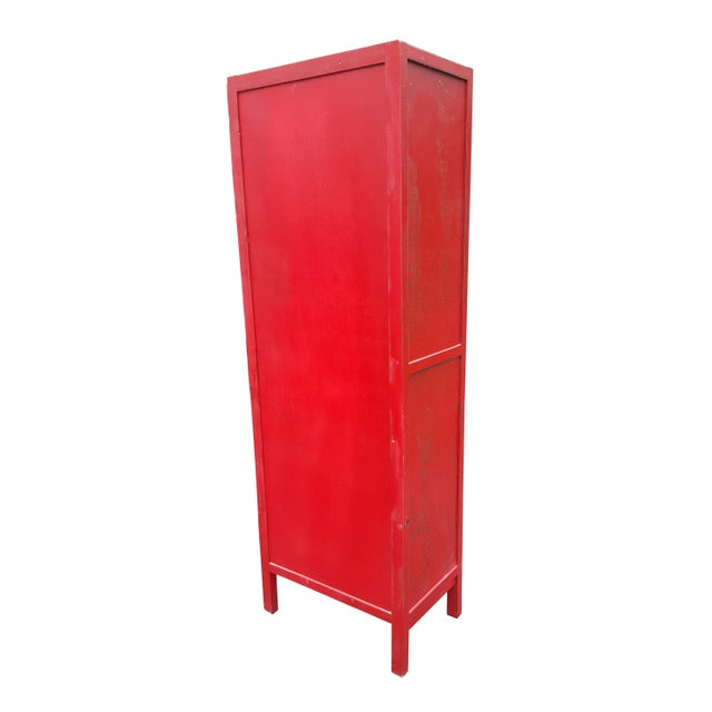 Red Chinese Extra Tall Dresser - Image 3 of 8