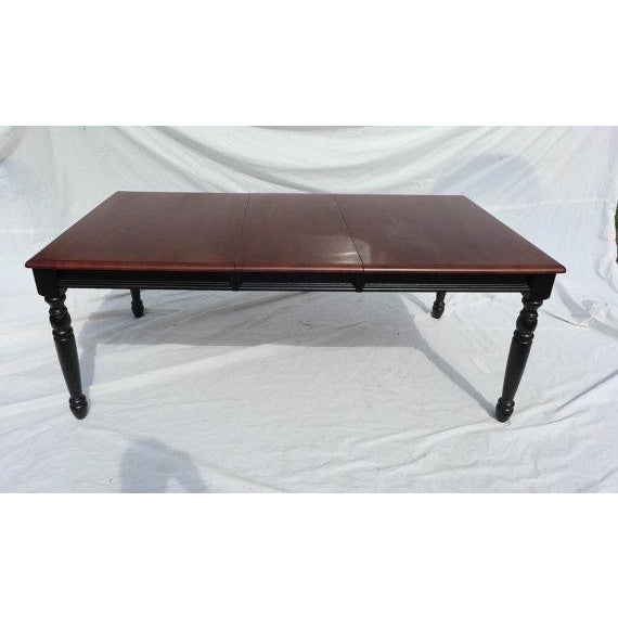 Country style mahogany dining table chairish for Country style dining table