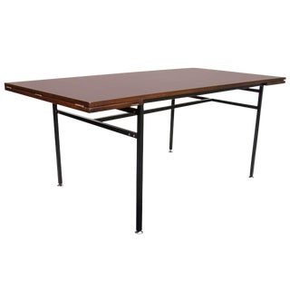 Rosewood/Steel Table by Alain Richard France