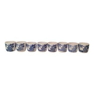 Japanese Flo Blu Saki Cups Shot Glasses - Set of 8