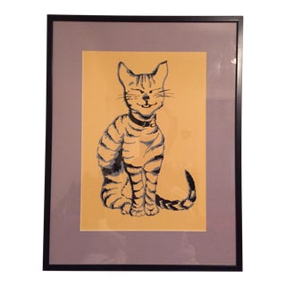 Smiling Cat Framed Print