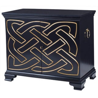 Kravet Jan Showers Black & Gold Piper Commode