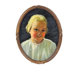 "Elsie Payne ""Portrait of a Blonde Girl"" Painting"