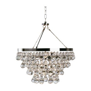 "Robert Abbey Polished Nickel ""Bling"" Chandelier"