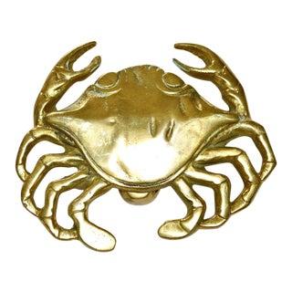 Polished Brass Crab Door Knocker