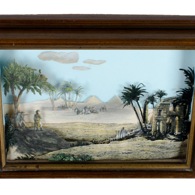 Image of Napoleon Egypt Expedition 3D Paper Shadowbox Diorama