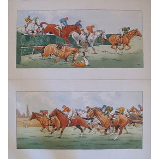 Le Rallic French Horse Racing Posters - Pair