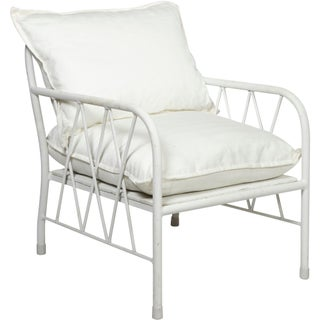 White Metal Armchairs - A Pair