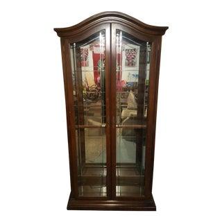 Two-Door Lit Full Display Curio Cabinet