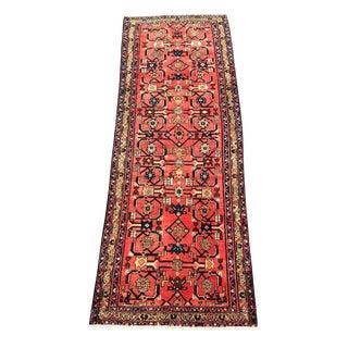 Vintage Persian Hamadan Runner - 3′5″ × 9′8″