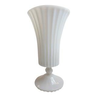 Antique Fire Milk Glass Vase