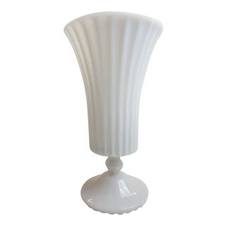 Antique Fire Milk Glass Vase