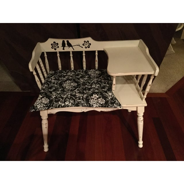 Vintage Phone Bench - Image 2 of 7