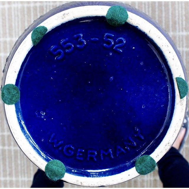 Scheurich Keramik Vintage Blue Fat Lava Floor Vase - Image 6 of 6