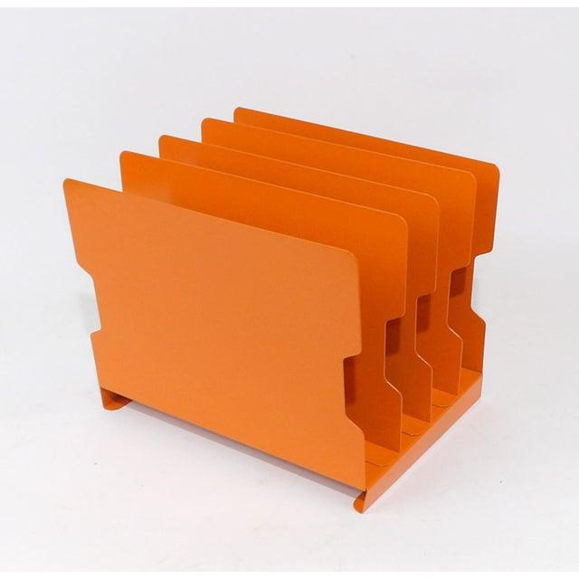 Orange Metal Desk Organizer - Image 7 of 9