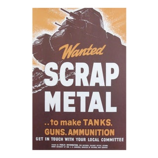 1940s Original Canadian WWII Poster, Scrap Metal