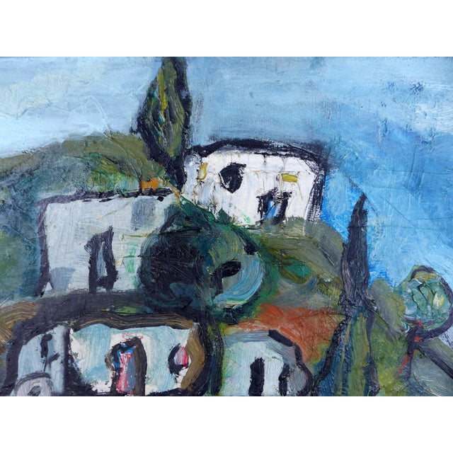 """""""Village With Pond"""" Abstract Oil Painting - Image 2 of 10"""