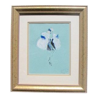 St. Laurent for Roland Petit Ballet Costume Design Sketch