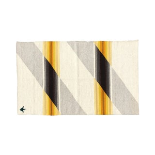 Teo Wool Rug in Yellow Ombre - 3′ × 5′