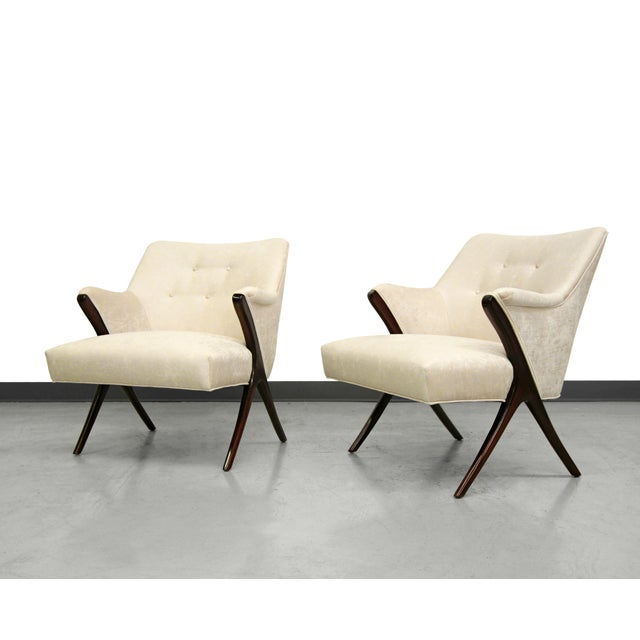 Karpen-Style Mid-Century Scissor Chairs - A Pair - Image 3 of 8